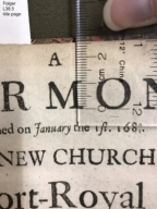 A sermon preached on January the 1st. 1680[/]1. : In the new church at Port-Royal in Jamaica, being the first time of performing divine service there. Published at the request of Sir Henry Morgan, and other gentlemen, by whose liberal contribution the said church was erected. By J. L. LL. B.
