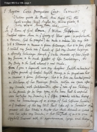Copy of will of William Shakespeare, 1616 [manuscript], ca. 1747.