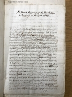 A short account of the revolution in England in the year 1688 [manuscript], ca. 1688.