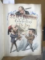 Sem's Pantheon of celebrities of the day [manuscript], 1876.