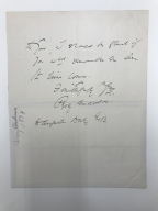 Autograph letters signed from Percy Anderson, London, to Augustin Daly [manuscript], 1894-1895.