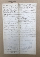 Autograph letter signed from Fred Stinson, Chicago, to Augustin Daly [manuscript], 1881 February 23.
