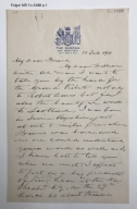 Autograph letter signed from Robert Mantell, New Haven, to William Winter, New York [manuscript], 1911 February 19.