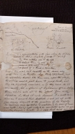 Autograph letter initialled from R.B. to R.W. Elliston, Drury Lane [manuscript], 1825 July 18.