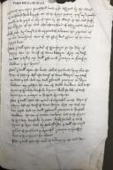 Copy of the will of Richard Lewkenor the elder, Esq., of Brambletye, East Grinstead, Sussex, January 22, 1502/3 [manuscript], 16th century.