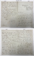 Autograph letter signed from James Orchard Halliwell-Phillipps, Islip, Oxfordshire, to Dr. [Abraham] Hume [manuscript], 1845 June 21.