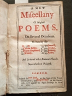 A new miscellany of original poems, on several occasions. : Written by the E. of D. Sir Charles Sidley, Sir Fleetw. Shepheard, Mr. Wolesly, Mr. Granvill, Mr. Dryden, Mr. Stepney, Mr. Rowe. ...
