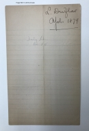 Autograph letters signed from Louis Duflocq, New York, to Augustin Daly [manuscript], 1873-1879.