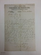 Autograph letters signed from Lee & Shepard, Boston, to William Winter [manuscript], 1878-1879.