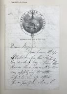 Autograph letter signed from Henry Mayhew to David Bogue [manuscript], 19th century.