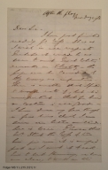 Autograph letter signed from Edwin Booth to Henry L. Hinton, 1866
