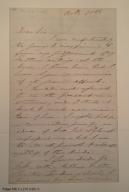 Autograph letter signed from Edwin Booth to Henry L. Hinton, 1866 October 21