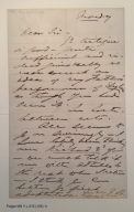 Autograph letter from Edwin Booth to Henry L. Hinton, 1866 Monday