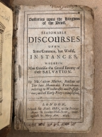 Batteries upon the kingdom of the Devil. : Seasonable discourses upon some common, but woful, instances, wherein men gratifie the grand enemy of their salvation. By Mr. Cotton Mather, author of the late Memorable providences relating to witchcrafts and possessions; and of Early piety exemplified.