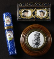 Three Bilston enamels related to Dorothy Jordan and the Duke of Clarence
