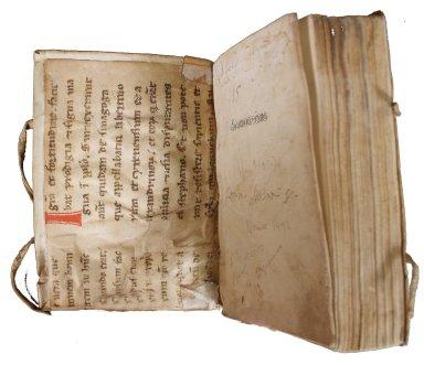 Manuscript paste-down, INC M219.