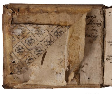 Inside front cover paste board, STC 1431.8.