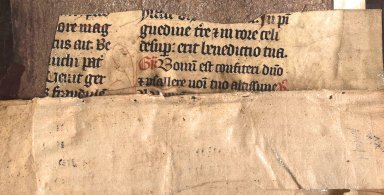 Manuscript recycled guard adhered to the front board, STC 4626 copy 1.