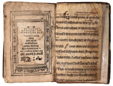 Front flyleaf verso mss inverted, STC 9275.