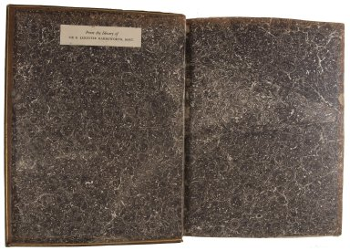 Inside front cover marble paper, STC 13045.