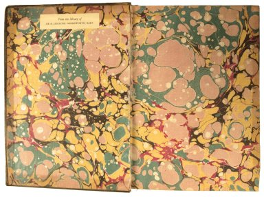 Inside front cover marble paper, STC 13286.