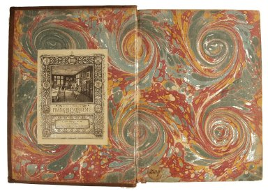 Inside front cover marble paper, STC 13630.
