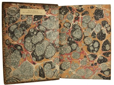 Inside front cover marble paper, STC 13685.8.