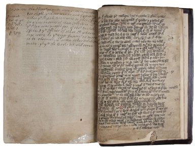 Recto back recycled manuscript, STC 16177.