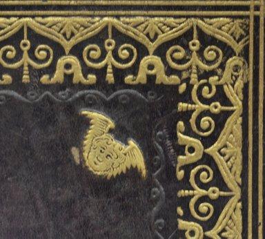 Winged cherub stamp (detail), STC 17546.