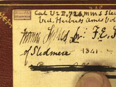 Binder's ticket (detail), STC 17661 copy 3.