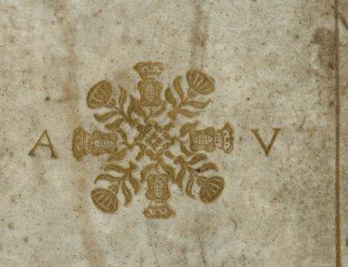 Center stamps (detail), V.a. 320.