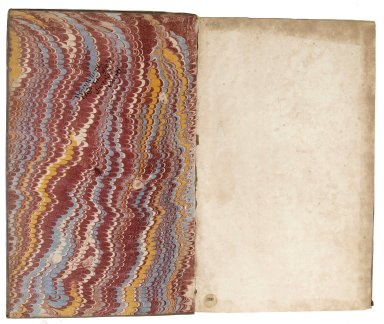 Inside front cover marble paper, 140-492f.