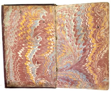 Inside front cover marble paper, A1907.