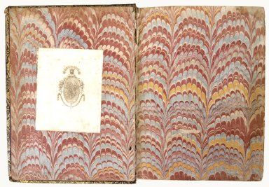 inside front cover marble paper