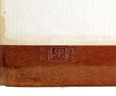 Inside back cover binders stamp, G159 B7 1590 cage fo. vol.1.