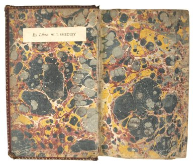 Inside front cover marble paper, BX5145 A4 1772 cage.