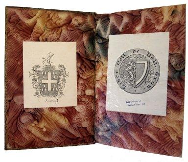 Inside front cover decorative paper, 175- 730q.