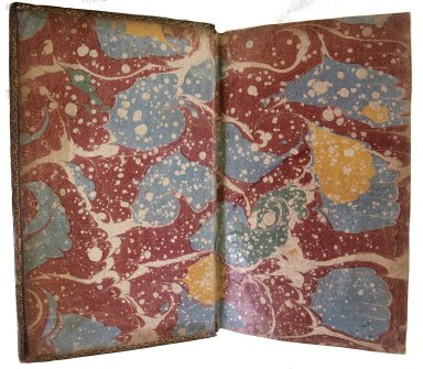 Inside front cover marble paper, 185907.