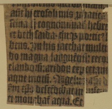 Manuscript waste inside back cover, PA8550 M4 1559 Cage v. 2.