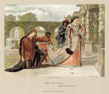 Come away death, twelfth night, act II, sc. II [i.e. sc. 4] [graphic] / drawn by Sir John Gilbert.