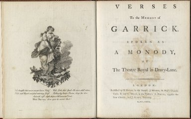 Verses to the memory of David Garrick, Spoken as a Monody at the Threare Royal, Drury Lane