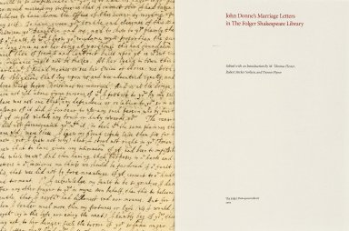 John Donne's marriage letters in the Folger Shakespeare Library