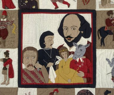 Homage to Shakespeare quilt