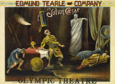 Edmund Tearle and company in Julius Caesar, [act IV, sc.3], Olympic Theatre [graphic].