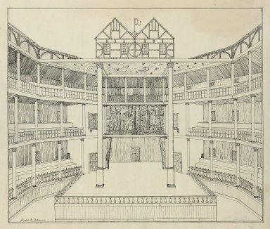 [Shakespeare's Globe Theatre, reconstruction] [graphic] / Joseph Q. Adams.
