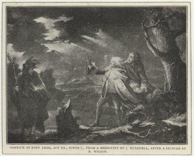 Garrick as King Lear, Act III, scene 1 [i.e.2]
