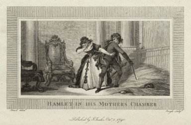 Hamlet in his mother's chamber [graphic] / Ansel, delint. ; Neagle, sculpt.
