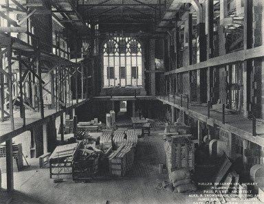 Construction of the Reading Room (photo)