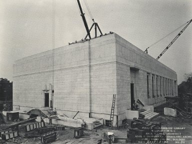 Construction of the Theatre wing (photo)