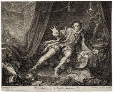 Mr. Garrick in the character of Richard III